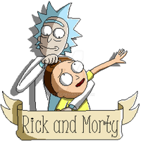 Pixel Rick and Morty by IzzyLC
