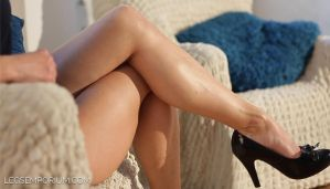 LegsEmporium Lina's Luscious Legs Crossed by LegsEmporium