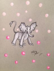 Elephant Re Do Drawing  by Enerdyte
