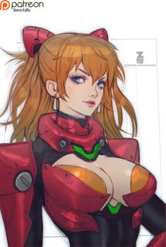 Asuka Sketch Portrait 01 by Zeronis