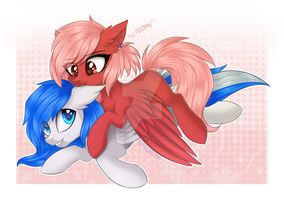 Rose and Snowstorm ^_^ by QueenOfSilvers