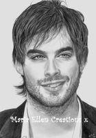 Ian Somerhalder Pencil Portrait by MariaEllenCreations