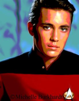 Wesley Crusher Digital Painting by Masharia
