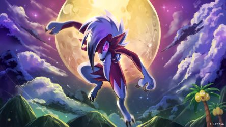 Midnight Lycanroc by R-nowong