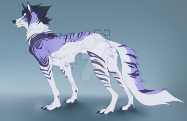 Ice Blue Wolf Adopt (Auction) - OPEN by kcou