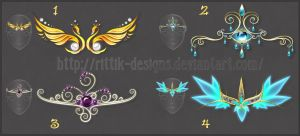 Diadems adopts 7 (CLOSED) by Rittik-Designs