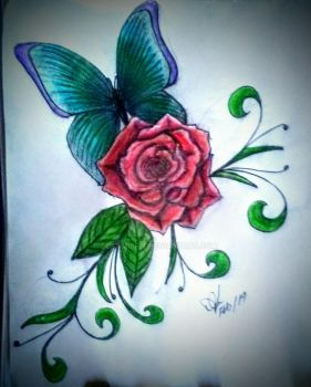 Rose  Butterfly Flash