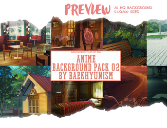 ANIME BACKGROUND PACK 02 by baekhyunism