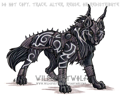 Tribal Armored Wolf Commission by WildSpiritWolf