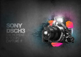 sony cyber-shot h3 remix by O-nay