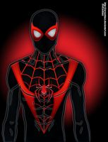 Ultimate Spider-Man Miles Morales Variant suit by xvrcardoso