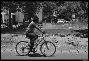 Giant on a bicycle by jadedPhotographer