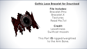 Gothic Lace Bracelet for Download [MMD] by xXFrenchToastXx