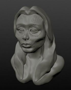 Day of the dead sculpt by KeimoJ