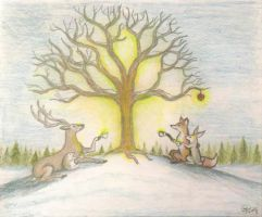 Wassailing the Apple Tree by Sidhe-Etain