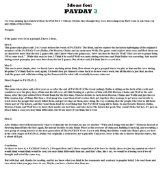 Ideas for PAYDAY 3 by Clipper2018