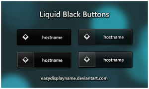 Liquid Black Buttons by easydisplayname