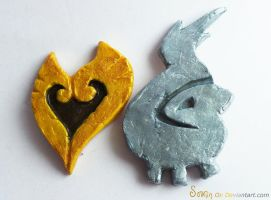 HeartGold and SoulSilver badges FOR SALE by Sovriin