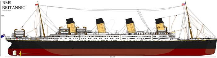 RMS Britannic by Fallout-Brony