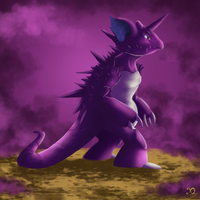 Pokemon Challenge - Day 1 - Nidoking by Xaneas