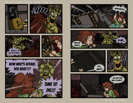 FNAF4 Comic - House Party - Page 76 - 6-27-17 by Mattartist25