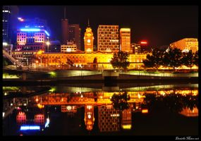 Flinders Station Reflections by daniellepowell82