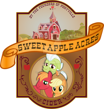 'Sweet Apple Acres Cider'  brand label by rtry