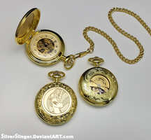 Midday Celestia Pocket Watch by SilverSlinger