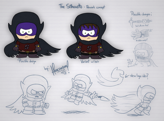 South Park - The SIlhouetto: Rework concept by hercamiam
