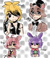 (Gift) Ask-the-fnafs by bunnyb133