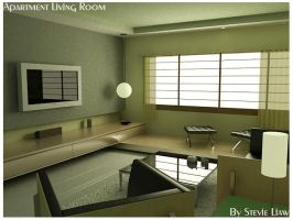 Apartment living room by Steve-lwd