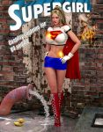 Supergirl bluemini cosplay costume for v4 by Terrymcg