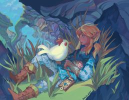 Breath of the Cucco by RamblingRhubarb