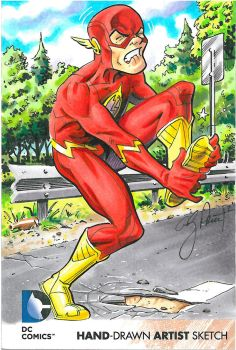 Flash DC New 52 Redemption Sketch card by andypriceart