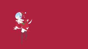 Santa Rem (Re: Zero) Minimalistic Wallpaper by Ancors