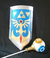 Hylian shield by Nafady