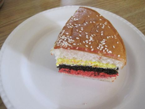 Hamburger Cake by ccrazyisme