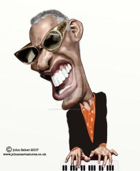 Ray Charles12 by johnscaricatures