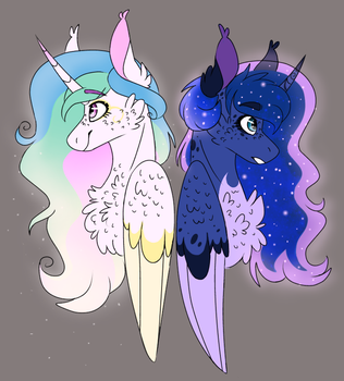 Sun and Moon by WanderingPegasus