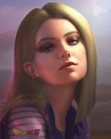 Realistic Android 18 by Kimonas