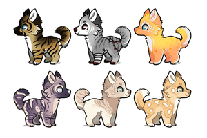 Design Batch One - Closed by PengrisuKnightAdopts