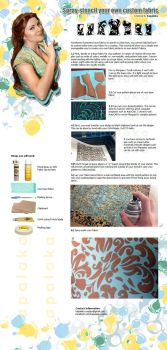 Custom Fabric Pattern Tutorial, Floral Spray Paint by Kapalaka
