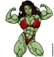 She Hulk by LordKelvin
