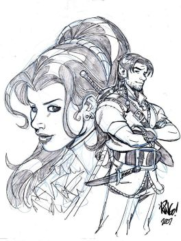HAWKE and SERRA by Wieringo