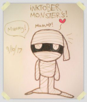 ~iNKTOBER Monsters! Day 9 Mummy~ 2017 by MC-Gemstone