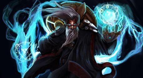 Zilean- League of Legends FanArt by Dragonflamebg