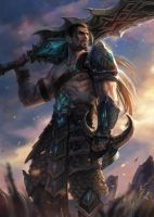 Tryndamere the Barbarian King by notagingermaan