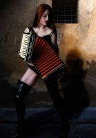 The Accordian Player by Odette-Roissy