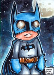 little Batman sketch card by dsilvabarred