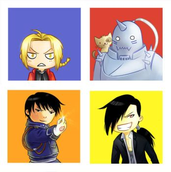 Chibis - FMA by Irrel